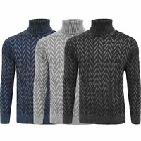 Mens Knitted Roll Turtle Neck Pullover Jumper Tops Wool Warm Slim Fit Sweater