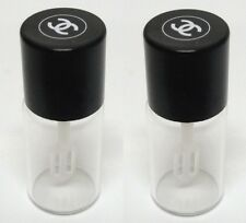 2 Chanel CC Logo Mini Glass Bottle Jar Travel Size, Perfume, Makeup, Foundation