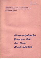 Cronología == Brand-erbisdorf 1964 kommunalpolitisches programa