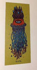 Marq Spusta Art Print Jellyfish Mini Silkscreen Chartreuse Paper UV Inks!