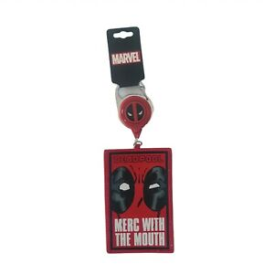 Marvel DeadPool Merc With The Mouth Lanyard  ID Holder Key Chain New With Tags