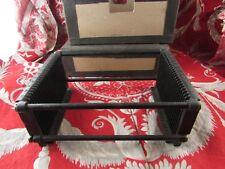 ancien casier de photos plaque verre stereo pour visionneuse en metal boite