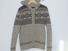 Fat Face Knitted Pile-Lined Hooded Jacket. M.