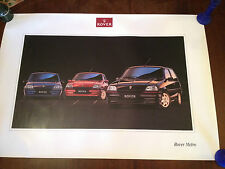 original rover metro showroom poster