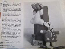 Vintage Bunny & Elephant toy knitting pattern[removed from damaged magazine]