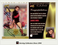 1997 Select AFL Ultimate Series Signature Redemption Card SC2 James Hird (Ess)