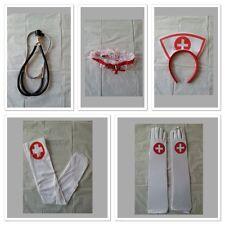 Sexy Fancy Nurse Set Headband Stethoscope Garter Syringe Pen Stockings Gloves