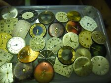 old vintage watch dials steampunk art or spare craft etc lot g