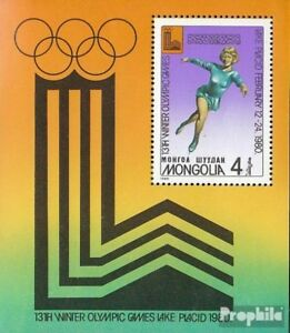 Mongolia block61 unmounted mint / never hinged 1980 Olympics Winter Games ´80