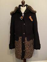 Karen Millen Coat Size 12 See Photos Description Leopard Flaws Cashmere Wool Mix