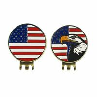 Golf Ball Marker with Magnetic Golf Cap Clip Hat Visor Clip 3 Styles US Stock