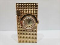 Vintage  LIGHTER & Swiss Made FOSKA Watch / Gold Tone