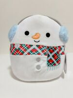 "Kellytoy Squishmallow 2020 Christmas Collection Manny the Snowman 8"" Plush Doll"