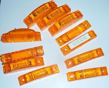 """8 Amber Clearance LED Light Markers Rectangular 7/8"""" X 3-7/8"""" & 1-1/4 tall NEW"""