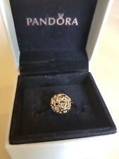 Authentic PANDORA 14ct Gold Openwork Love Heart Charm 100% Genuine