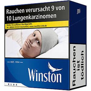 8 x Winston Blue 55 Stück Zigaretten