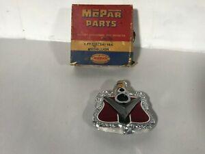 1954 DODGE MEADOWBROOK V8 NOS MOPAR HOOD MEDALLION 54