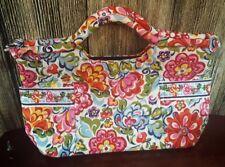 VERA BRADLEY Hope Garden Multi Floral Gabby Purse Handbag Tote RETIRED 2010