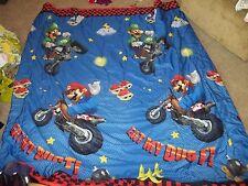 Nintendo Super Mario Kart Brothers Race Cart Track Twin Comforter/Blanket