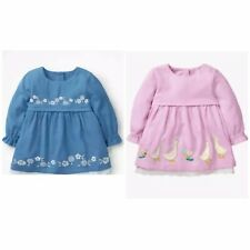 New Baby Girls Embroidered Woven Dress Ex Boden Age 3-24 M 2 3 4 Y RRP £28-£30