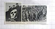 1954 Egypt Liberation Parade General Neguib Skull Crossbones Student Army