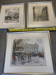 3 HANS FIGURA PARIS FRANCE RARE Signed on Satin Vintage