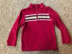 GYMBOREE Boy Sweater Top Size 8 ~ Stripes 1/4 zip ~ Winter Spring