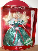 Vintage 1995 Happy Holidays Barbie Special Edition Mattel New In Damaged Box