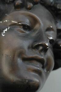 dekorative alte Gips Büste - Lambeaux - ca. 56cm