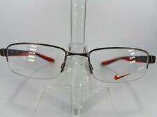 Nike 8174 Men's Semi Rimless Eyeglass Frame 070 Brushed Gunmetal 51-19