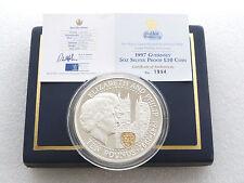 1997 Bodas De Oro Diez Libra PLata Oro Prueba 5oz Moneda Caja