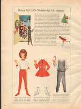 1965 Vintage ad for Betsy McCall's Wonderful Christmas Paperdoll Red (111715)