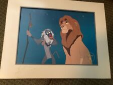 Set of 2 rare Disney Commemorative Lithographs The Lion King / Piglets Big Movie