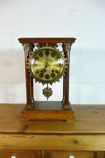 Dutch Table Clock Shelf Mantel Walnut Old Clock Warmink Wuba