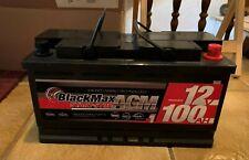 BLACKMAX AGM Batteria Auto 12v 100ah start-stop VRLA Batteria ERS 95ah 92ah 90ah