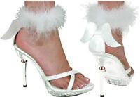 Morris Costume Women's Sexy Angel Crisscross Toe Strap Shoes White 7-8. HA50WTMD