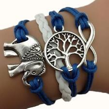 Bracelet infini Elephant Arbre de vie infinity bleu
