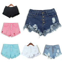 FOR Women High Waisted SUMMER Ripped Short Jeans Girls Casual Denim Pants Shorts