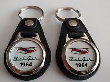 1964 Chevrolet Bel Air KEYCHAIN 2 PACK CLASSIC CAR FOB LOGO BELAIR KEY CHAIN