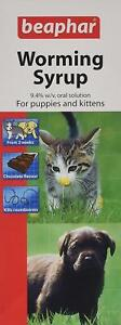 Beaphar Worming Syrup Wormer Treatment For Pet Cat Dog Kitten and Puppy 45 ml