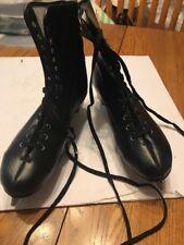 Sears Roebuck Ice Skates Vintage 50s Mens Figure w/ Original Box Size 10 Black