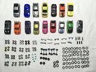 HUGE LOT ZipZaps Micro RC Car Parts 16 bodies 7 motors 54 tires, case + more kit