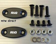 R&G PAIR BLACK LOGO MIRROR BLANKING INSERTS Honda CBR900 Fireblade (2001)