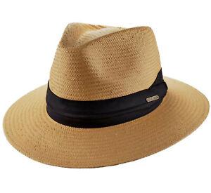 Panamah/üte f/ür Herren,Sonnenh/üte f/ür Damen,Sommer Lafite Strohhut weibliche feine Feifei Gras flachen Hut Sonnenblende flachen Strand Hut