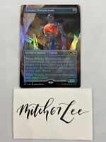 MTG Magic the Gathering - FOIL BORDERLESS Solemn Simulacrum - Core Set 2021
