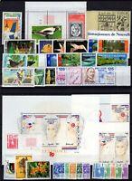 132823/ NEW CALEDONIA – YEARS 1985 - 1991 MINT MNH MODERN LOT – CV 110 $