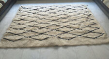 Tribal Authentic Moroccan Handmade Berber Rug Beni Ourain Atlas Mountains