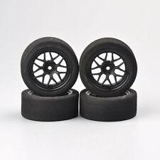 4PCS Unique Foam Tires Wheel Rims Set For 1:10 On-Road RC Model Racing Car