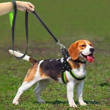 Светоотражающие нейлон собака шаг-в упряжь и поводок набор украшений с заклепками сетка с подкладкой жилет @