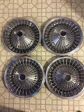 1971 - 78 Chrysler Dodge Plymouth Wire Spoked Hubcaps 14""